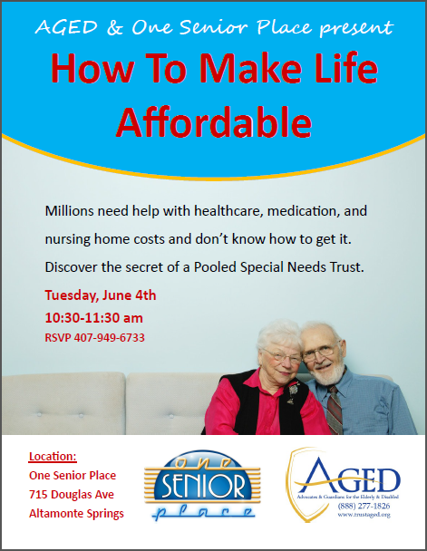 OSP Make Life Affordable June Presentation 04.23.13